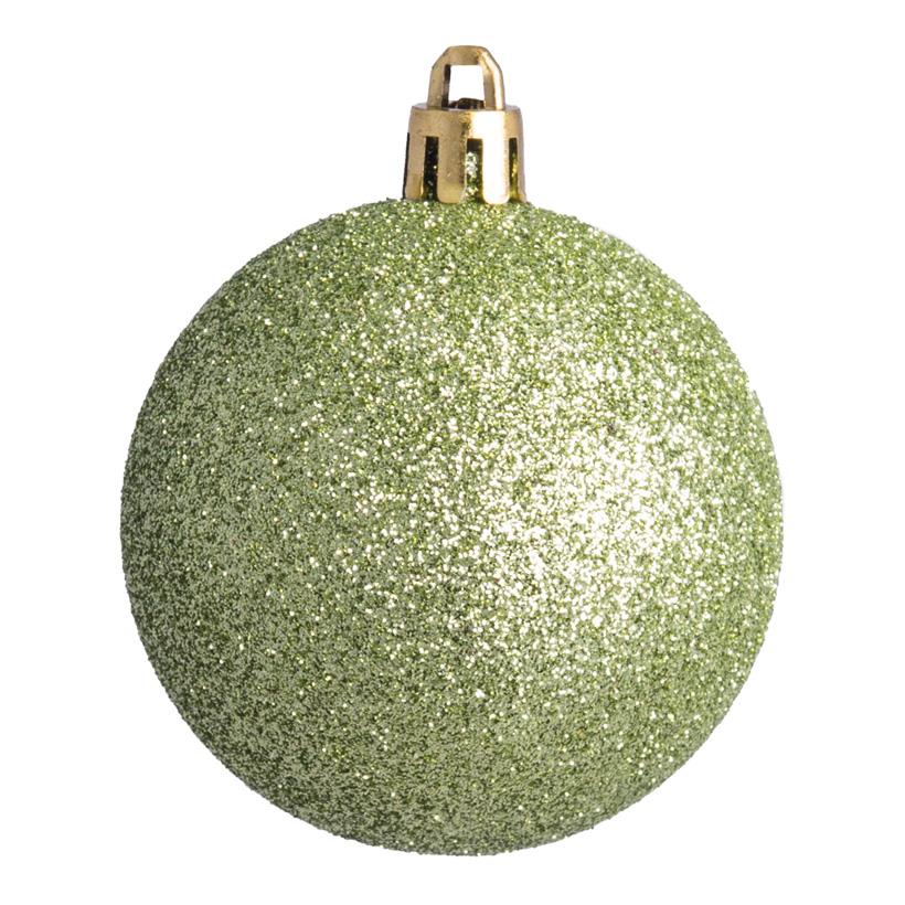 Weihnachtskugel, mint glitter, Ø 6cm 12 St./Blister
