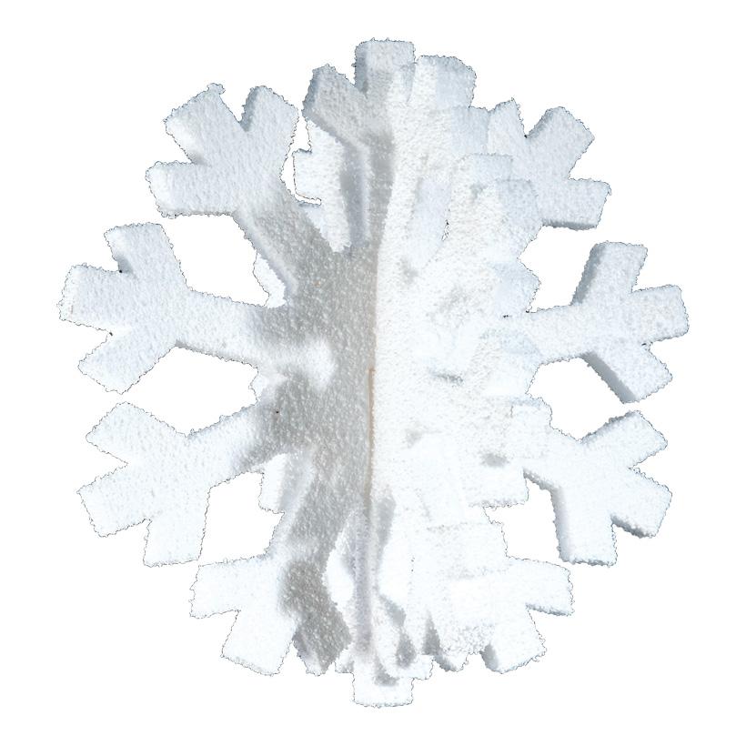Schneeflocke 3D, 50x50cm, 2-tlg., zum Zusammensetzen, Styrofoam