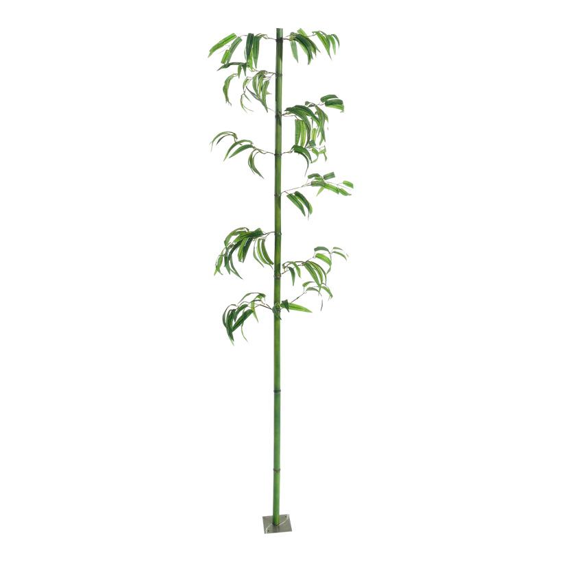 # Bambusrohr mit Blättern, Ø 2,5cm, 180cm, Kunststoff