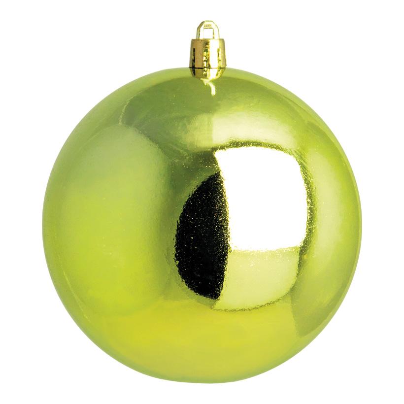 Weihnachtskugel, hellgrün glänzend, Ø 10cm