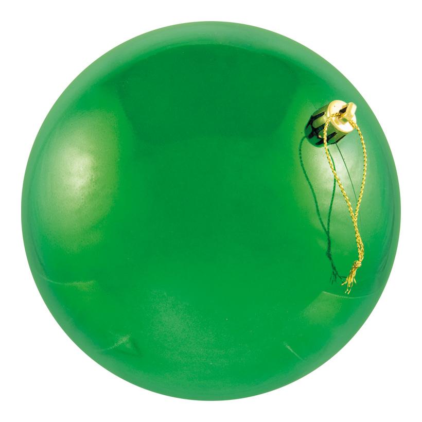 Weihnachtskugel, grün, Ø 8cm, 6Stck./Blister, nahtlos, glänzend