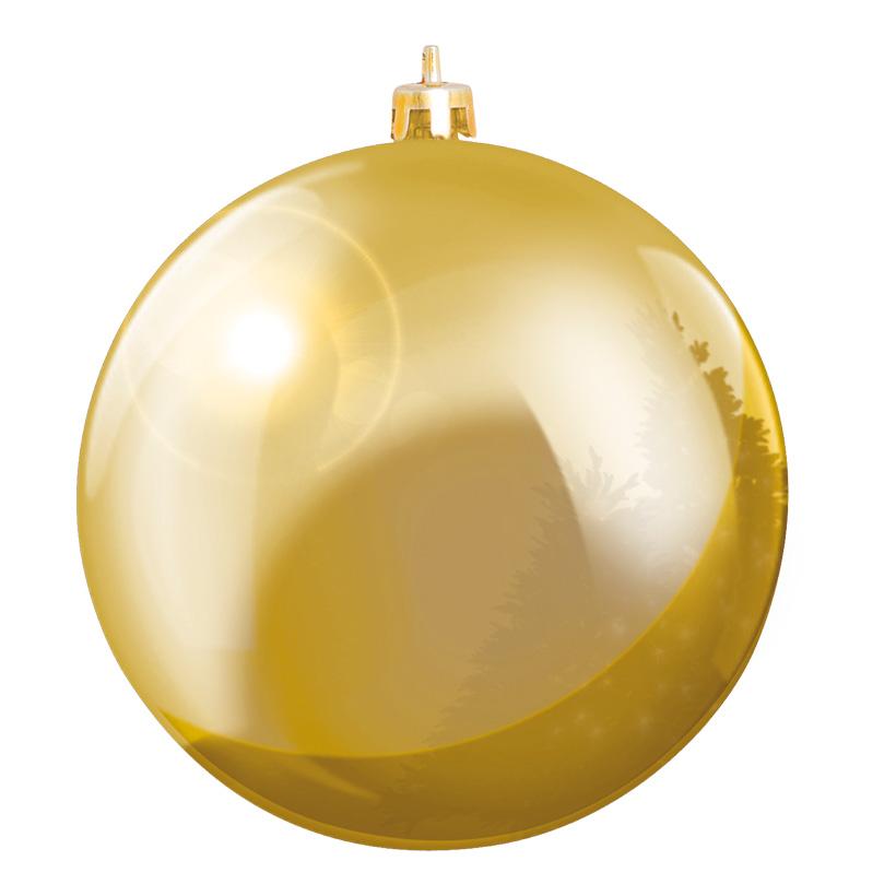Weihnachtskugel, Gold, Ø 6cm, 12 Stk./Blister, aus Kunststoff, Schwer entflammbar nach B1, UV-beständig