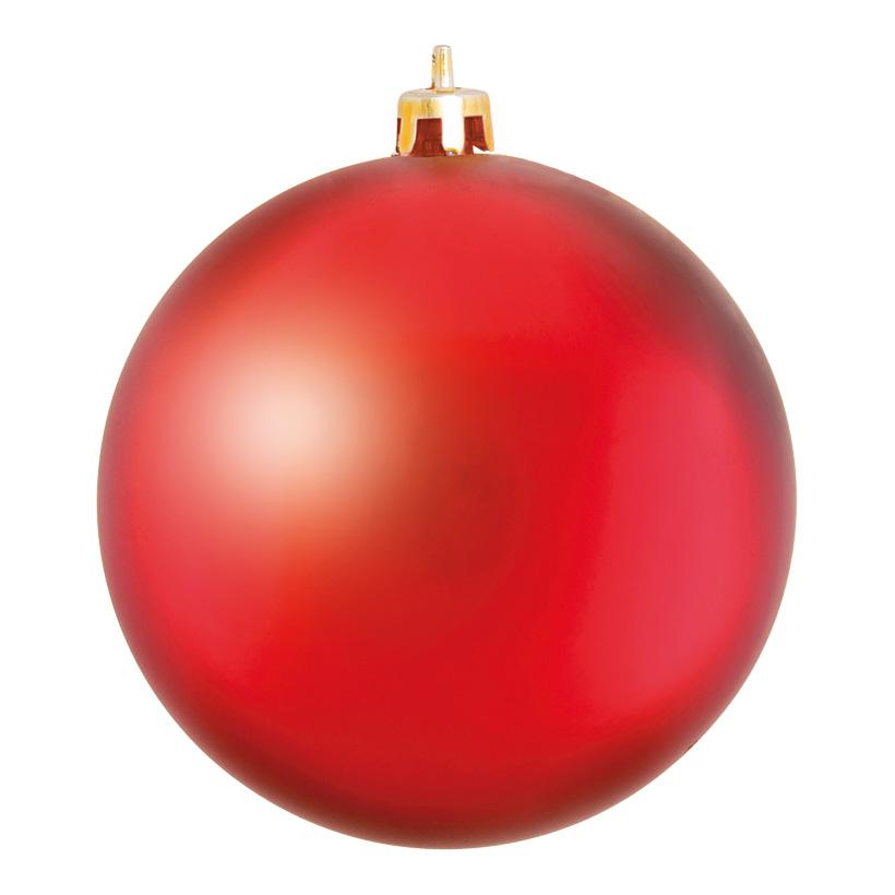 Weihnachtskugel, Mattrot, êØ 14cm, aus Kunststoff, Schwer entflammbar nach B1, UV-beständig