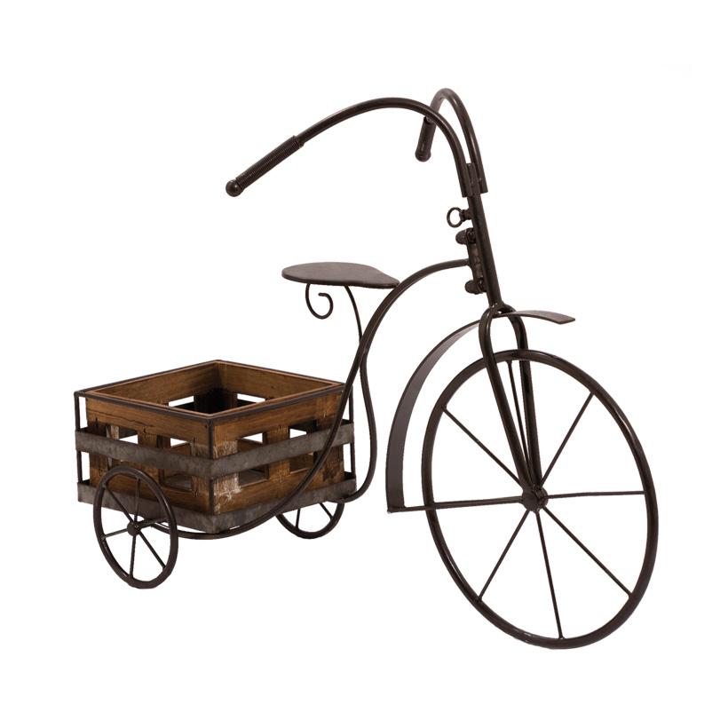 # Retro-Dreirad, 66cm mit 1 Pflanzenkorb
