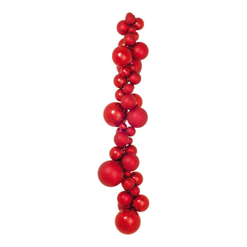 Kugelhänger, Ø 3-10cm, 80cm, matt und glänzend, mit 2 Aufhängehaken, Kunststoff Länge inkl. Haken 100cm