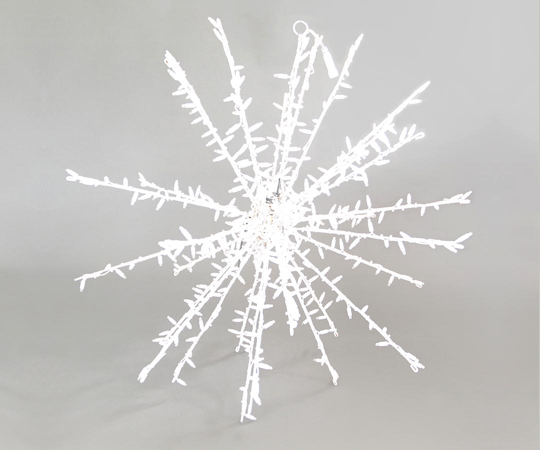 # LED Stern, 100cm Abstand zwischen den LEDs: 5cm, 480 LEDs, für Innen- & Außenbereich, IP44, faltbar, ohne Stecker, 36,8 W, Rahmen pulverbeschichtet