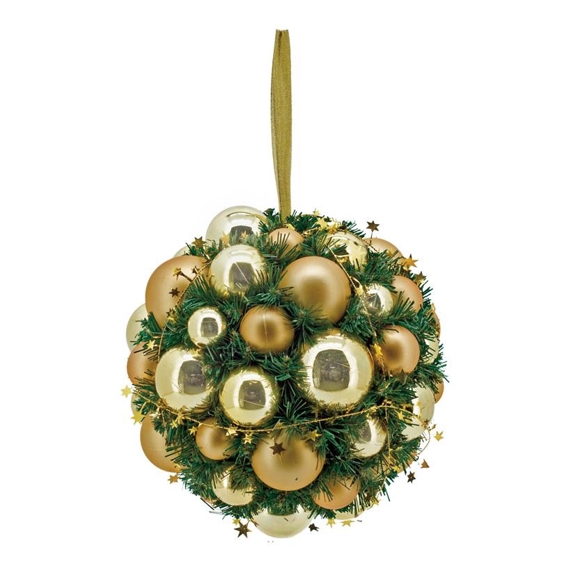 Tannenkugel, Ø 30cm, geschmückt, Kunststoff