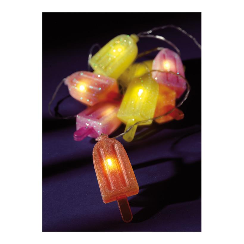 "Lichterkette ""Eis am Stiel"" 180 cm 8 LEDs, batteriebetrieben (nicht inkl.)"