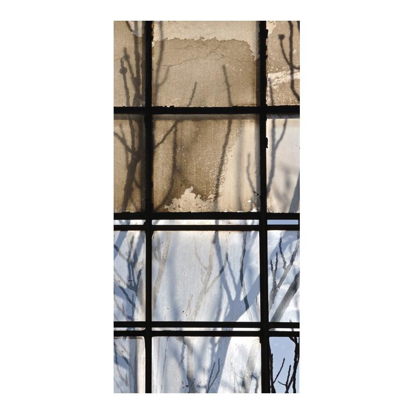 """# Motivdruck """"Fenster mit Ästen"""", 180x90cm Papier"""
