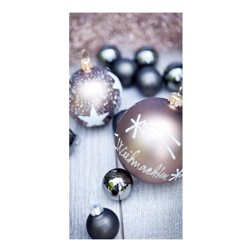 """# Motivdruck """"Weihnachtskugeln"""", 180x90cm Stoff"""