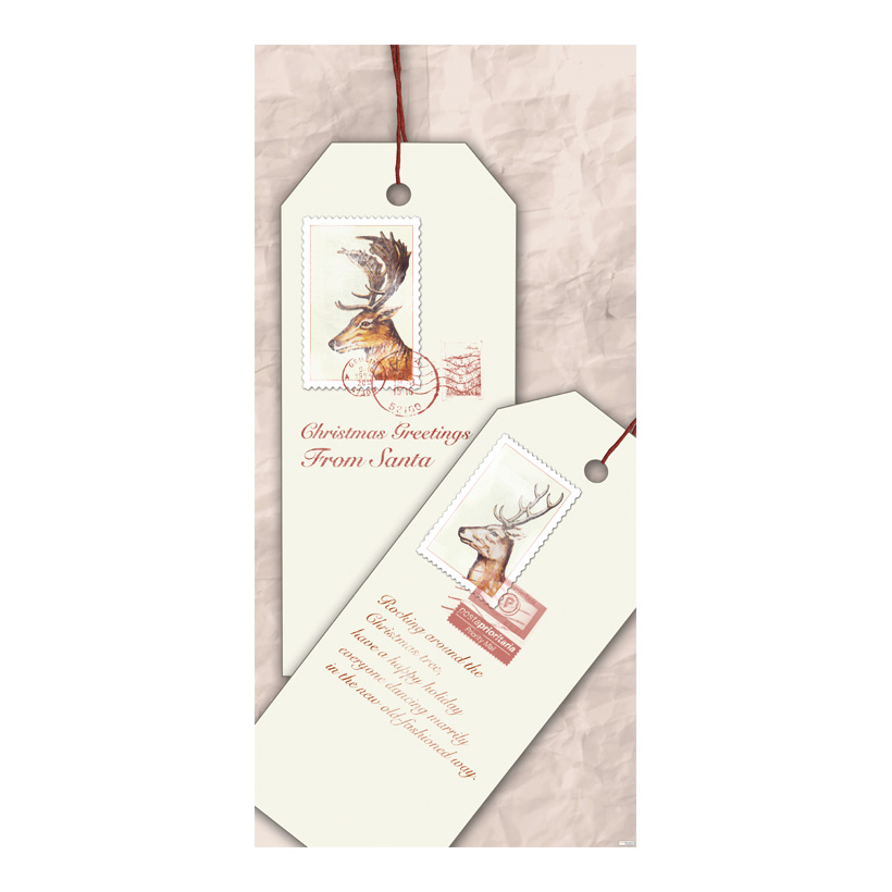 "# Motivdruck ""Weihnachtsanhänger"", 180x90cm Stoff"