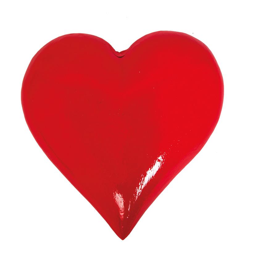 # Herz 20x20x6cm 3D, aus Styropor
