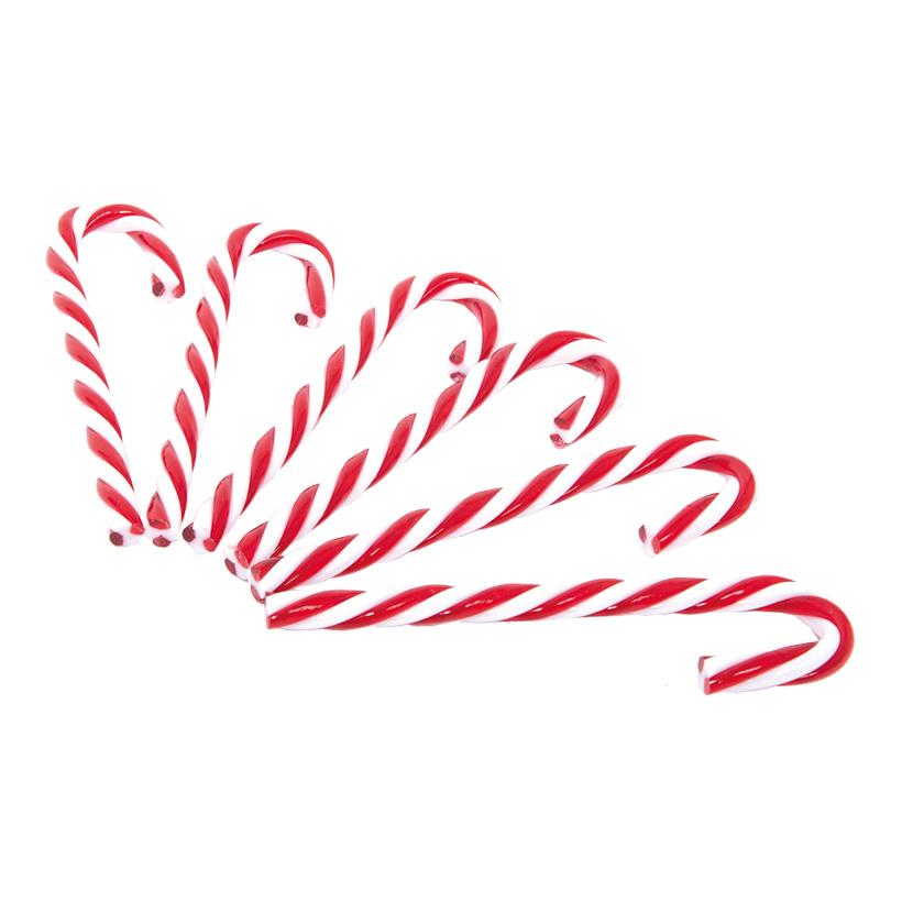 Zuckerstange mit Schleife, 18cm, 6-fach, Kunststoff