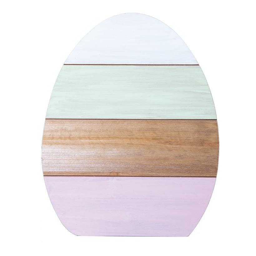 Osterei, 30x20cm Holzständer rückseitig, aus Holz