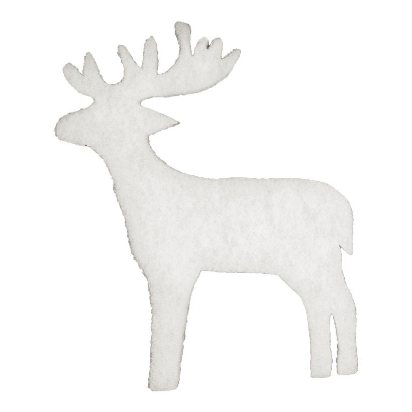 Rentiere, Ø 29cm, 10er-Pack, aus 2cm Schneewatte, schwer entflammbar