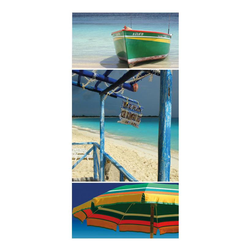 """# Motivdruck """"Karibik Inspirationen"""", 180x90cm Stoff"""