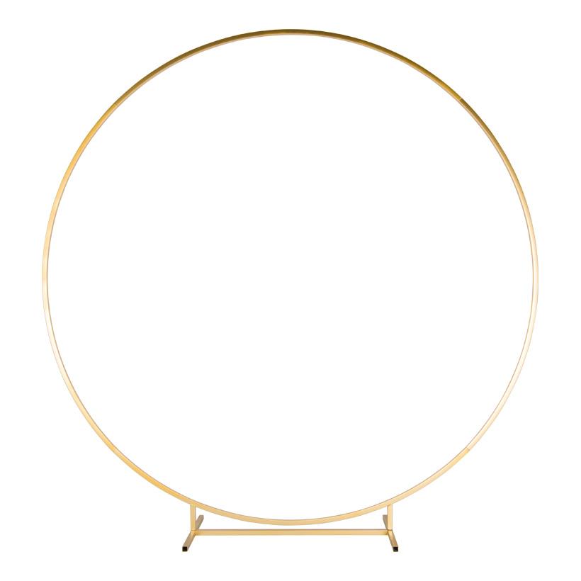 Kreisdisplay, Ø 200cm 5-teilig, aus Metall, steckbar, Vierkantrohr, mit 6 Schrauben in gold