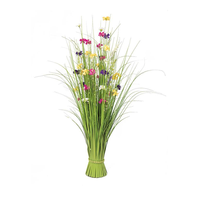# Grasbündel, 100cm  Ø15cm mit Frühlingsblüten,  Ø15cm