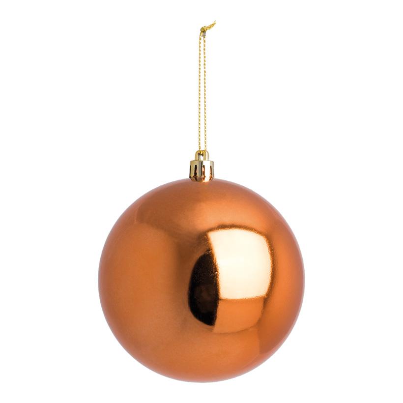 Weihnachtskugel, kupfer, Ø 10cm, nahtlos, glänzend