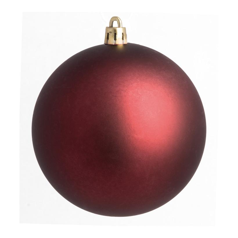 Weihnachtskugel, bordeaux matt, Ø 8cm, 6 St./Blister