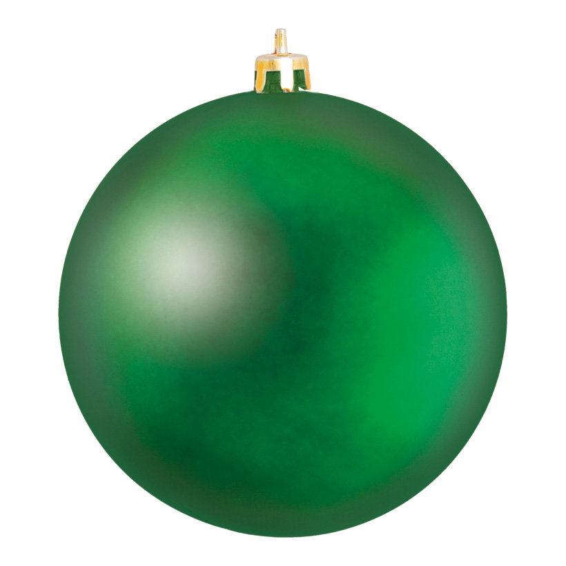 Weihnachtskugel, Mattgrün, Ø 8cm, 6 Stk./Blister, aus Kunststoff, Schwer entflammbar nach B1, UV-beständig