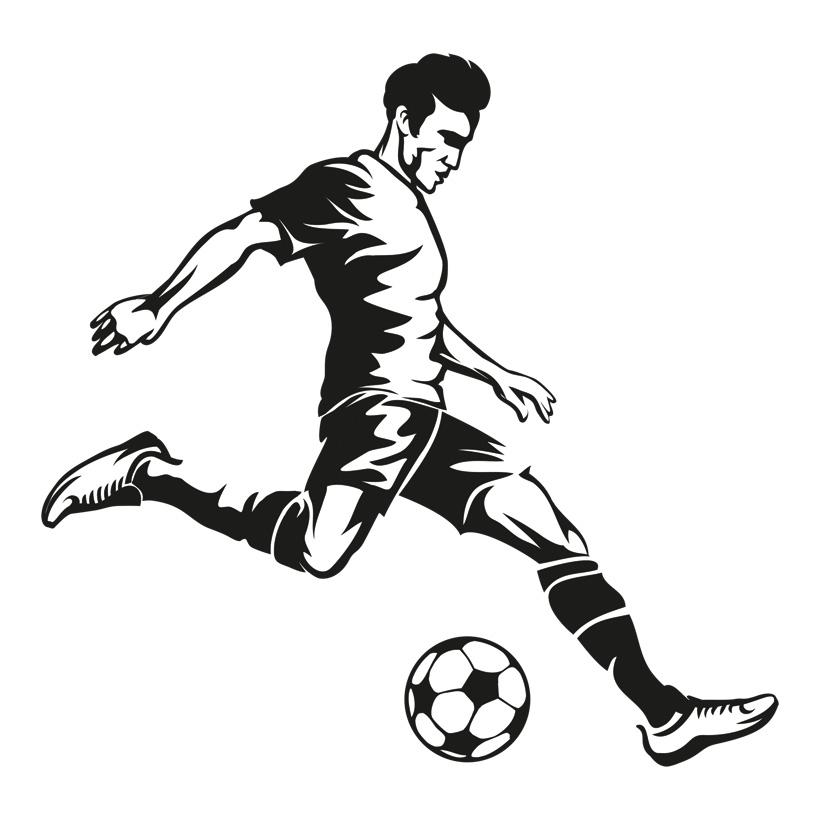 """# Pappaufsteller """"Fußballspieler"""", 100x100cm, Materialstärke: 4mm 100x100cm, rückseitig aufgeklebte Stütze aus Pappe"""