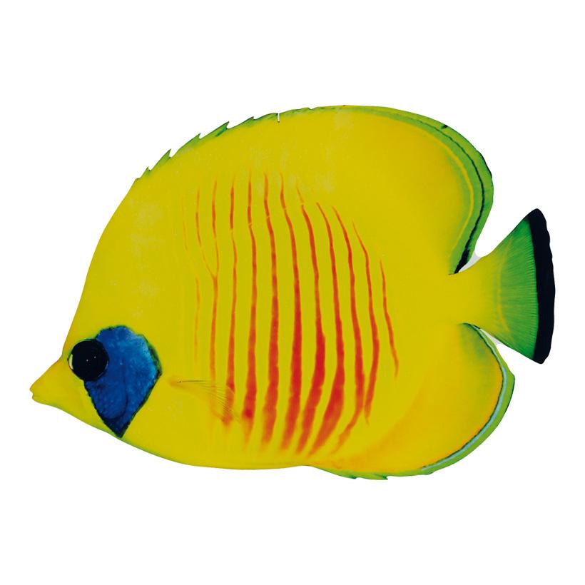 Tropenfisch, 20x12cm, beidseitig bedruckt, Holz, mit Aufhänger