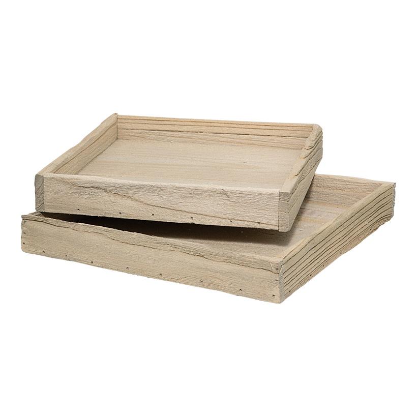 Kiste, 29x29x4cm+26x26x4cm, 2Stck./Satz, Treibholz