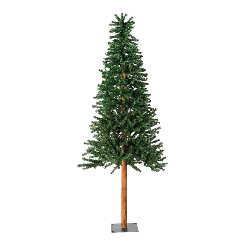 Tannenbaum, 180cm Ø70cm schlank, mit Metallfuß, 863 Tips, mehrteilig