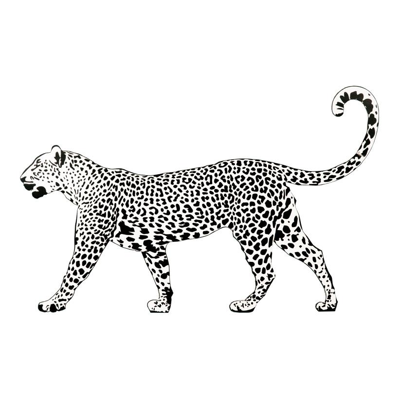 "Cut-Out ""Leopard"", 120x70cm Stütze rückseitig klappbar"