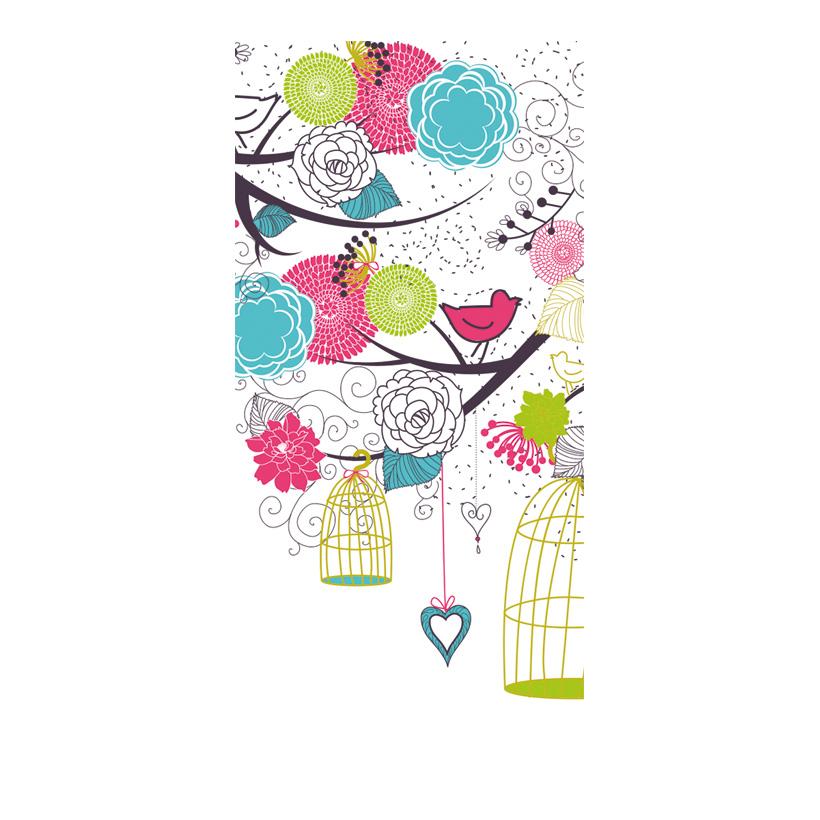 "# Motivdruck ""Birdie Romance"", 180x90cm Stoff"
