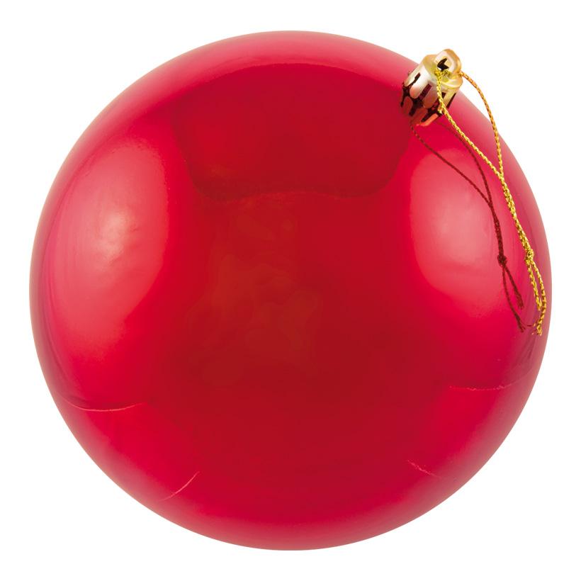 Weihnachtskugel, rot, Ø 6cm, 12Stck./Blister, nahtlos, glänzend