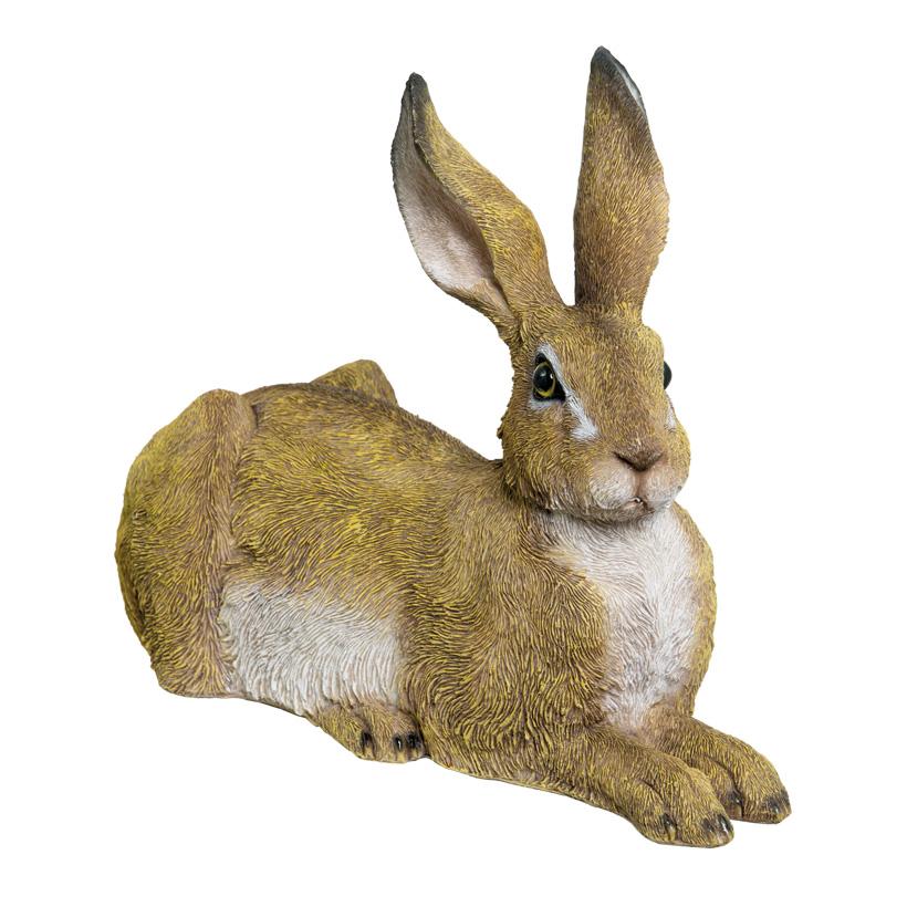 # Hase, liegend, 36x28x16cm, Polyresin, für Innen und Außen