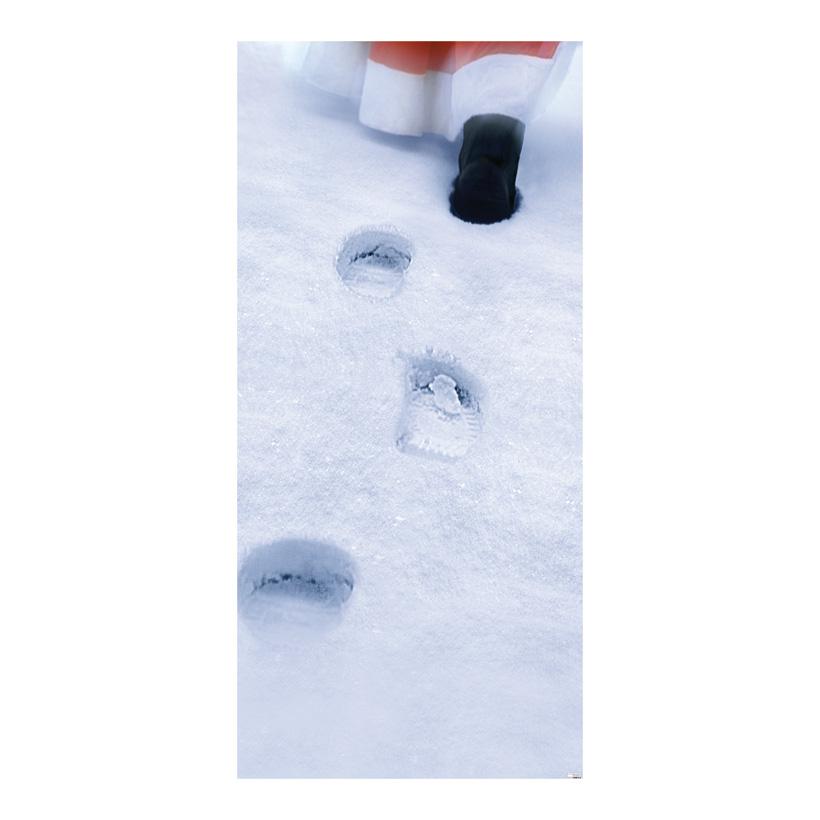 """# Motivdruck """"Santa im Schnee"""", 180x90cm Stoff"""