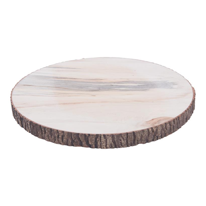 Baumscheibe, H: 2,5cm Ø30cm Holz mit Schaumstoffüberzug