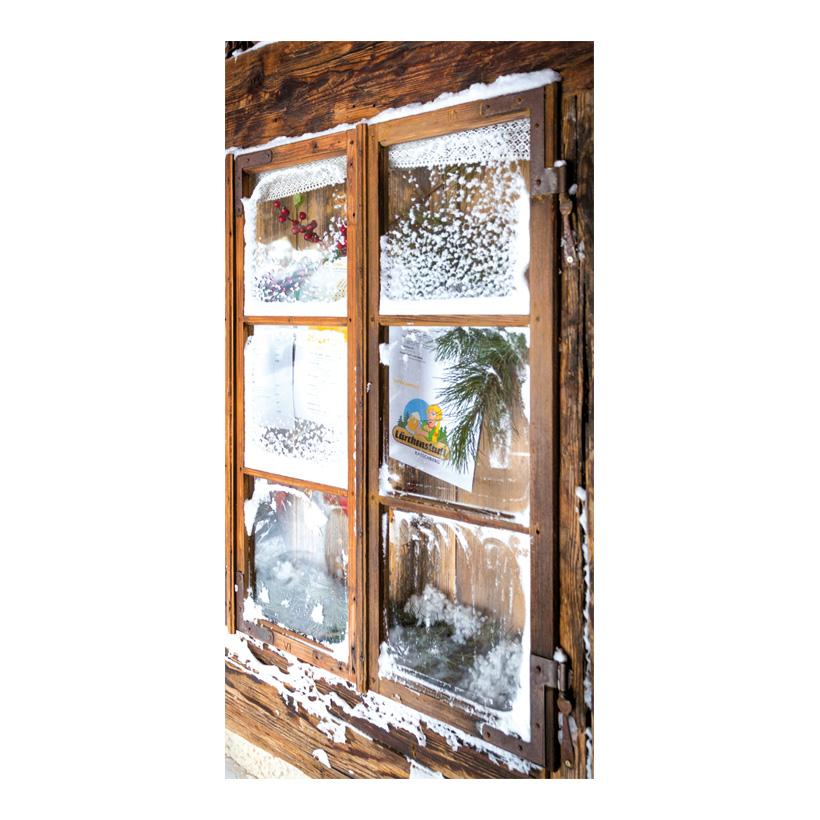 "# Motivdruck ""Hüttenfenster"", 180x90cm Papier"