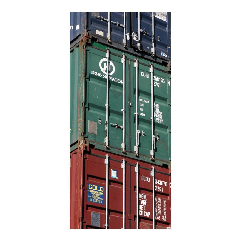 """# Motivdruck  """"Container"""", 180x90cm Stoff"""