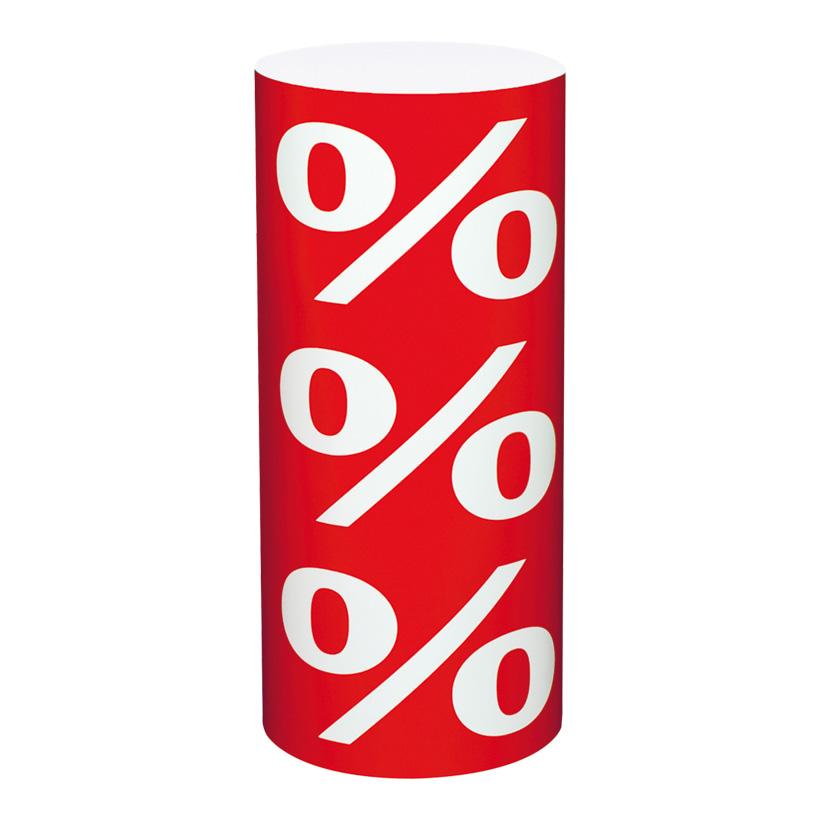 """# Präsenter """"%"""" Ø 26 cm Höhe 60 cm Karton"""