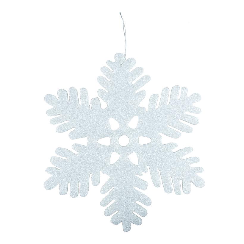 Schneeflocke, Ø 35cm mit Hänger, aus Schaumstoff
