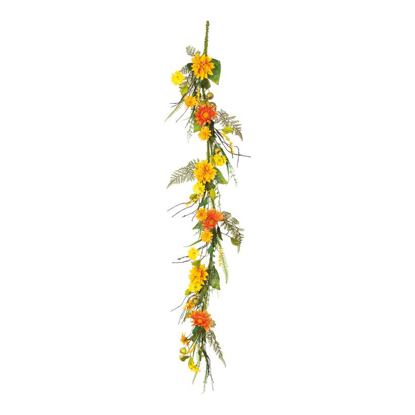 Blumengirlande, 150cm Ø15cm mit Blumen und Gräsern