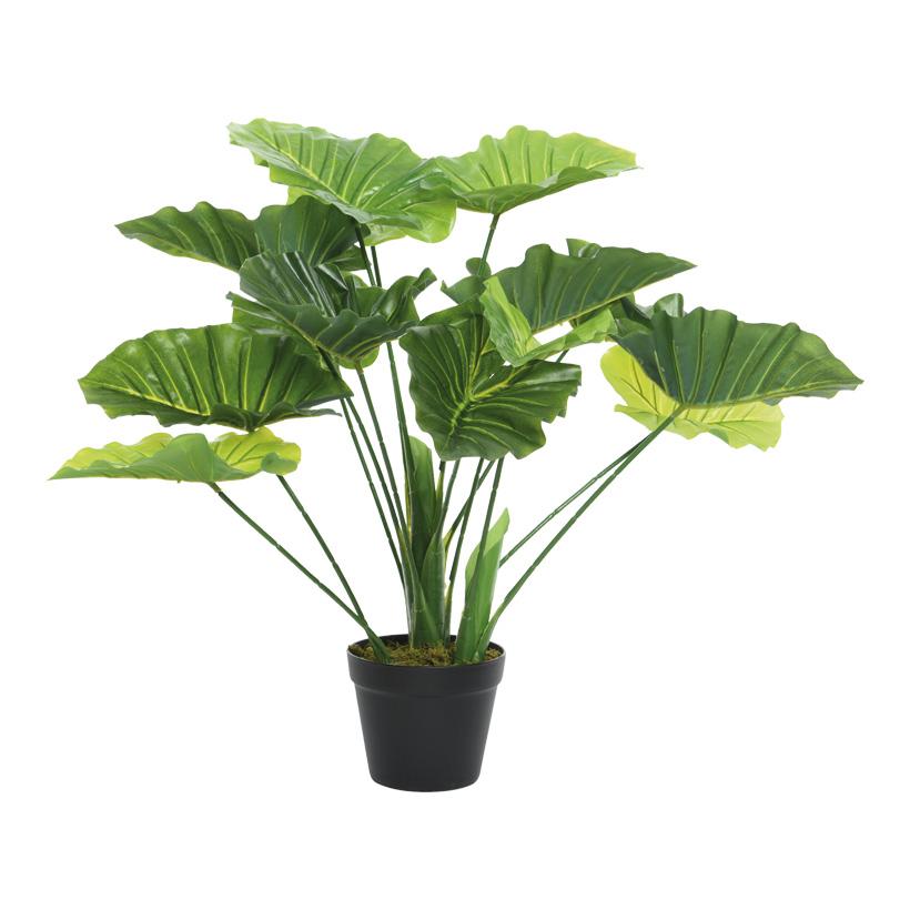 # Kunstpflanze 54cm mit 3 Stämmen und 14 Blättern, im Topf