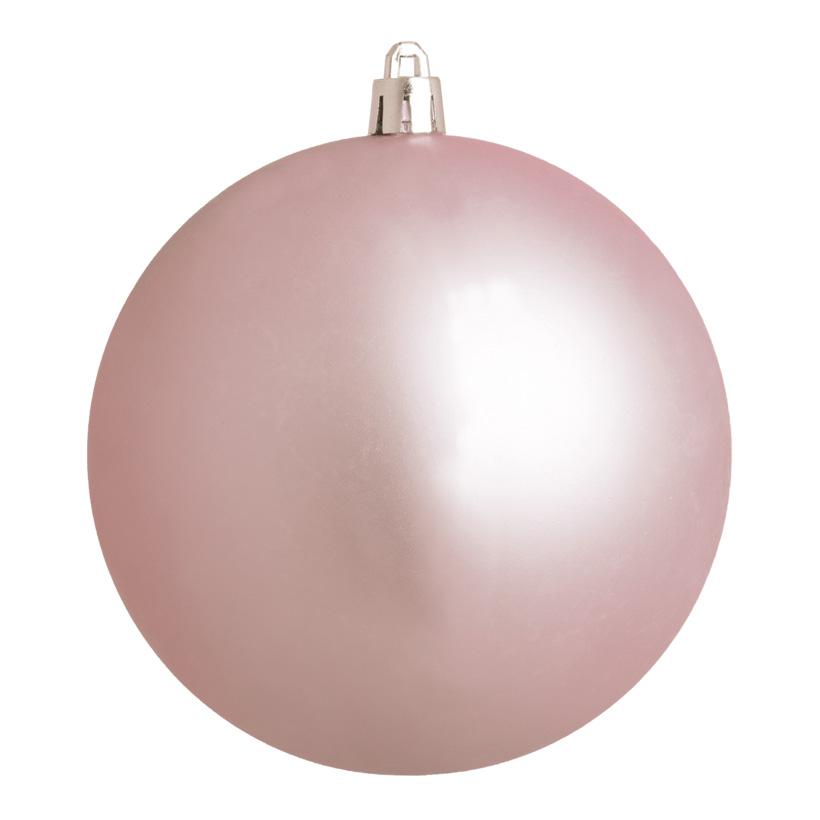 Weihnachtskugel, altrosa matt, Ø 8cm, 6 St./Beutel