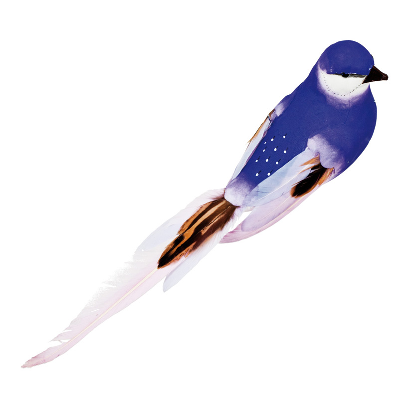 Vogel mit Clip, 40x7x7cm, Styrofoam mit Federn