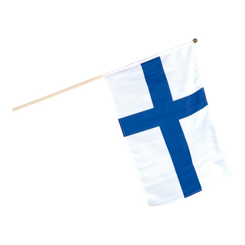 Fahne am Holzstiel, 30x45cm, Kunstseide
