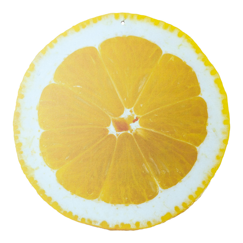 """# Cut-out """"Zitrone"""", 45x45cm, zum Hängen, beidseitig bedruckt, aus Pappe"""