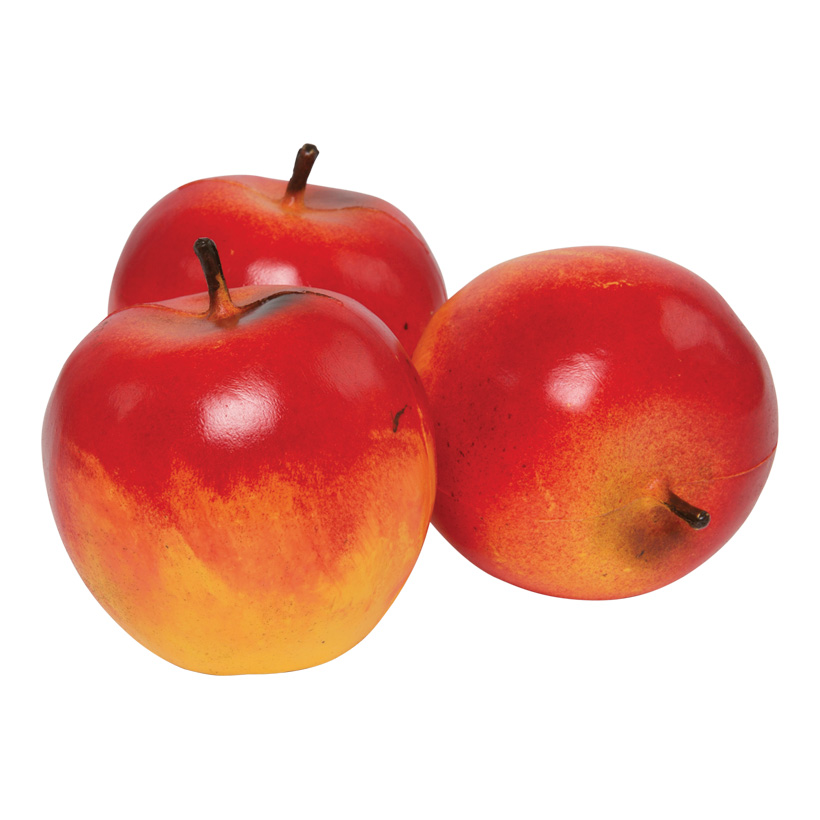 # Apfel, Ø 8cm, 3Stck./Btl., Kunststoff