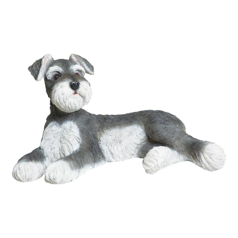 """# Hund """"Schnauzer"""" 49x28x28cm, Polyresin, für innen und aussen"""