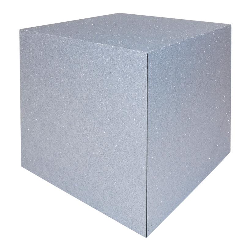 Würfel, 25x25cm Zementfinish, klappbar, aus Hartschaum
