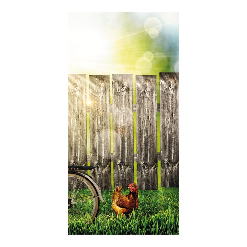 """# Motivdruck """"Gartenzaun"""", 180x90cm Papier"""