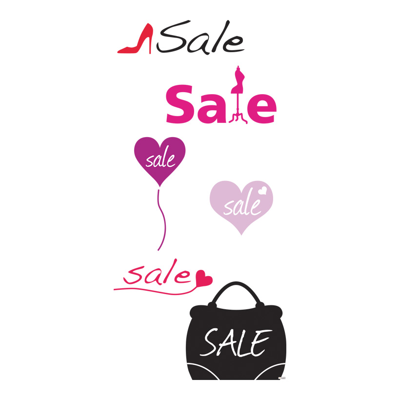 "# Motivdruck ""Ladies Sale"", 180x90cm Stoff"